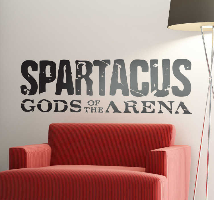 TenVinilo. Vinilo decorativo Spartacus. Adhesivo con el logotipo de la serie que narra las aventuras del esclavo Espartaco en pos de su libertad.