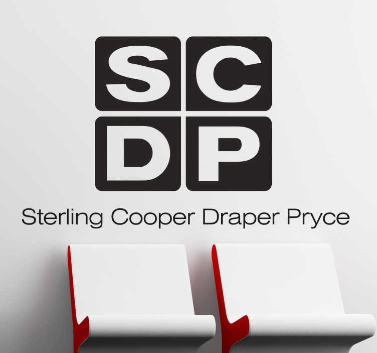 TenVinilo. Vinilo decorativo Sterling Cooper. Adhesivo con el logo de la empresa de publicidad en la que trabaja el protagonista de la serie Mad Men.
