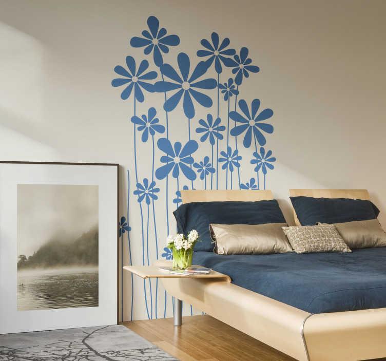 Sticker decorativo steli in fiore
