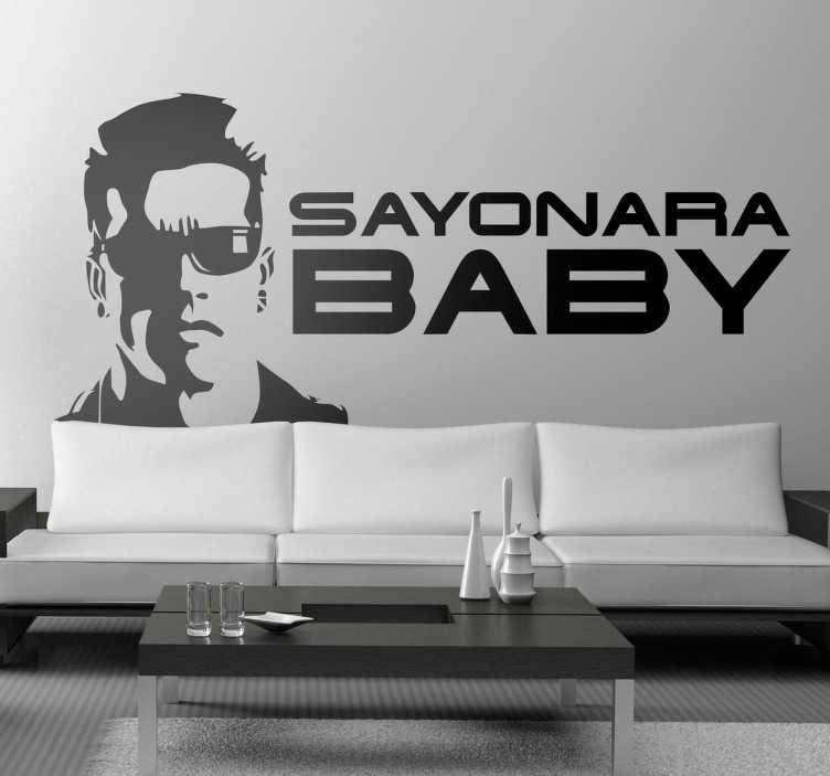 Sticker decorativo sayonara baby