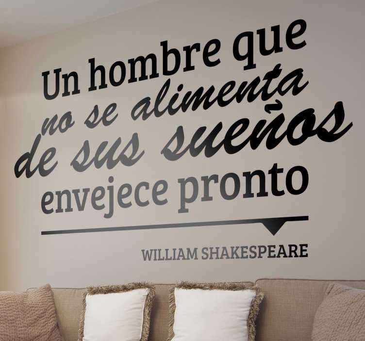Vinilo decorativo William Shakespeare