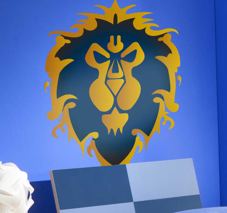TenVinilo. Vinilo decorativo Alliance WOW. Si eres fan del videojuego de rol World of Warcraft hazate con este adhesivo de una de sus facciones políticas.