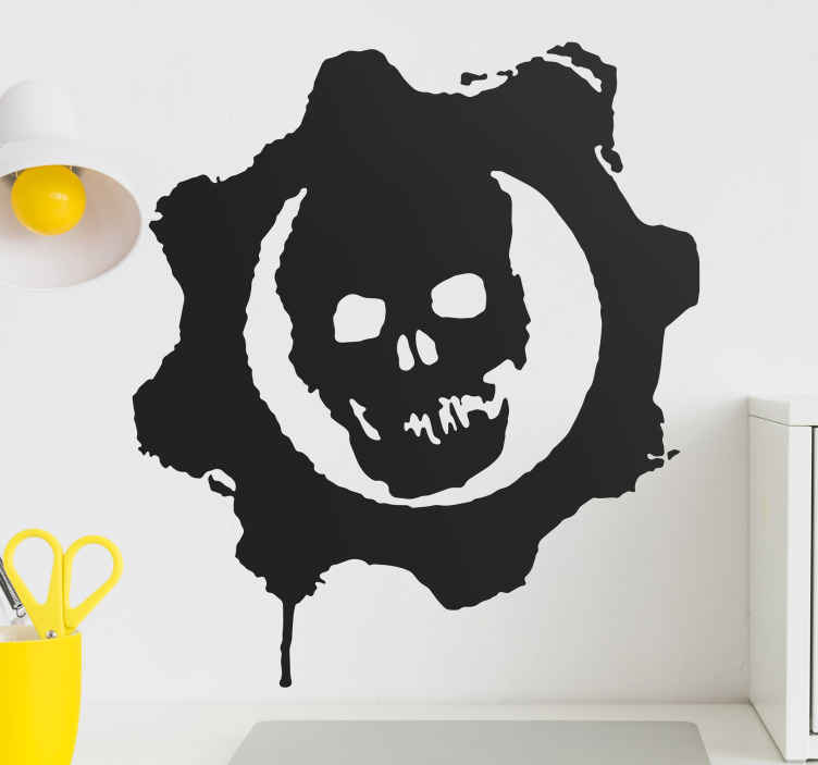 TenStickers. Gears of War Sticker. Decorative sticker of the famous and popular video-game; Gears of War. Superb to decorate your room!