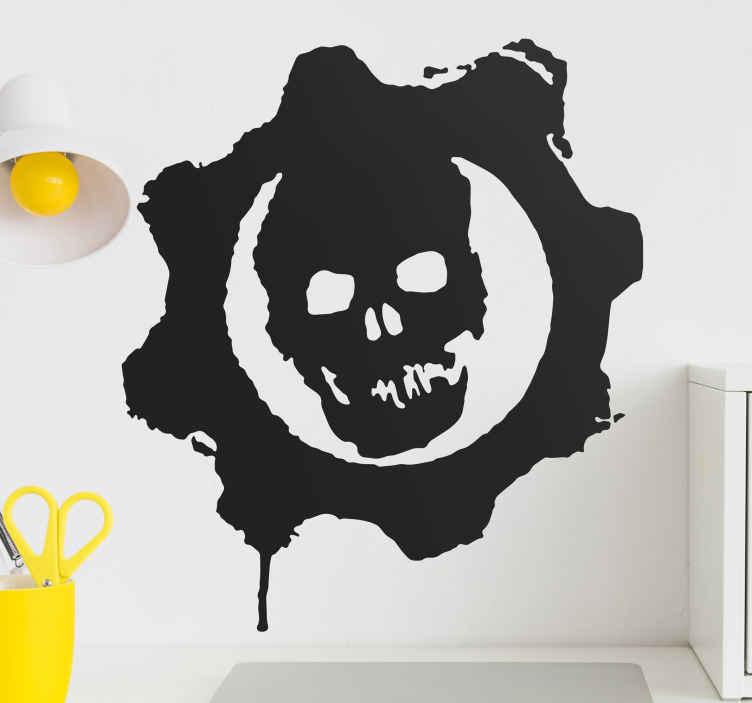 TenStickers. Sticker logo Gears of war. Stickers pour enfant illustrant le logo du jeu vidéo à succès Gears of War.Super idée déco pour la chambre d'enfant et tout autre espace de jeux