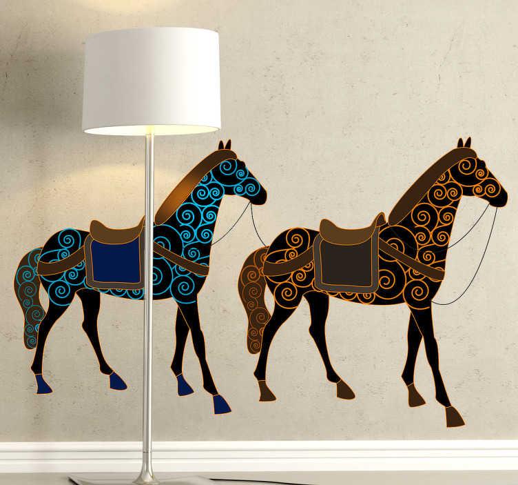 Vinilo decorativo dos caballos