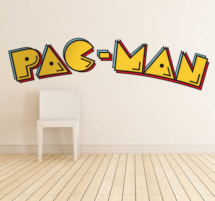 Pacman Logo Decal  sc 1 st  TenStickers & Pacman Logo Decal - TenStickers