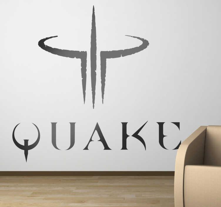 TenVinilo. Vinilo decorativo logo Quake. Adhesivo de unos de los videojuegos de disparos más exitosos de todos los tiempos.