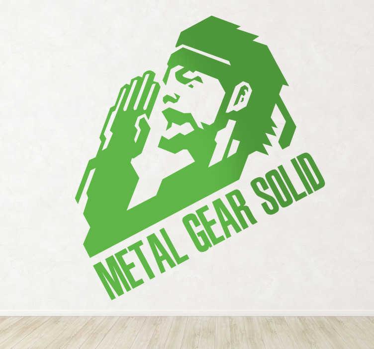 TenVinilo. Vinilo decorativo Metal Gear Solid. Adhesivo del videojuego de Konami de inspiración bélica con un soldado de gesto marcial.