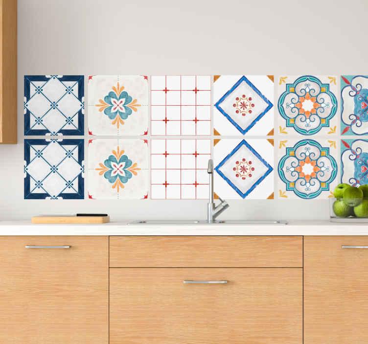 TENSTICKERS. セメントタイルデザインタイル転送. さまざまなデザインのオリジナルのセメントタイルウォールステッカーで、キッチンやその他のスペースを手間をかけずに飾ることができます。
