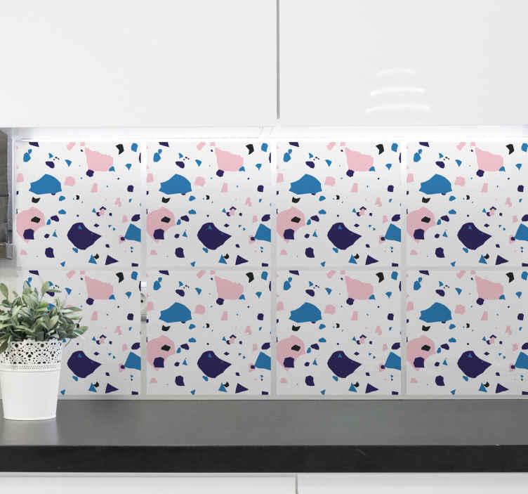 TENSTICKERS. タイルテラゾタイル転送. この防水タイルステッカーは、キッチンをモダンに飾るのに理想的な方法です。防泡ビニールを使用し、非常に長持ちします。