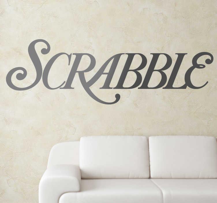 Sticker décoratif Scrabble