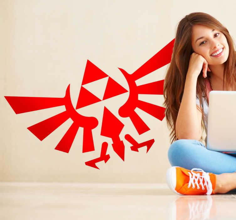 TenStickers. Sticker décoratif Zelda Triforce. Stickers créatif reprenant le logo de la Triforce, saga de jeux vidéos par Nintendo.