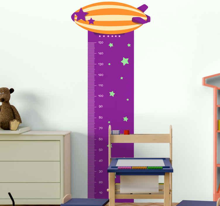 TenVinilo. Vinilo medidor de cohete. Vinilo medidor con cohete y estrellas para que decores tu casa de forma original. Diseño increíble para ver a tu hijo crecer ¡Envío exprés!