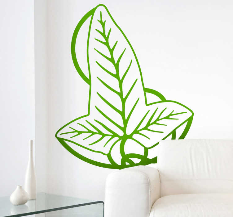 TenStickers. Leaf of Lorien Wall Sticker. Decals - Inspired by the hit movie and book series The Lord of Rings an illustration of the Leaf of Lorien. Ideal for fans