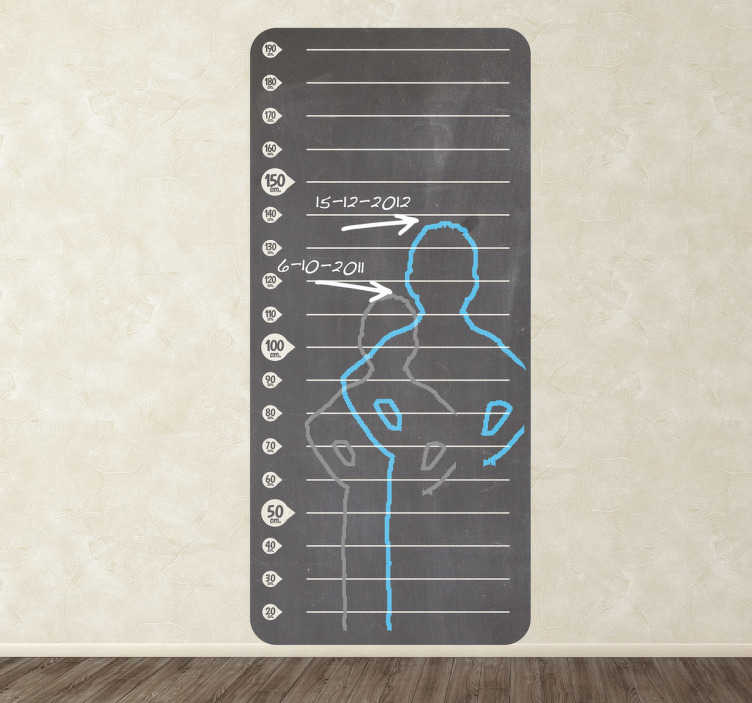 TenStickers. Height Measure Chart Blackboard Sticker. Blackboard Stickers- Slate sticker height chart design ideal for decorating any room, also practical for drawing and writing notes.