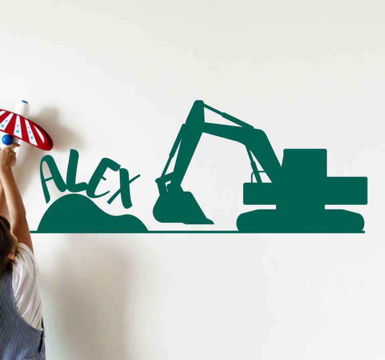 TENSTICKERS. カスタムネームデカールの建設現場. あなたの子供が私たちの装飾的な例示的な建設車両デカールでいくつかの建設機械とそれらの使用法を理解し始めましょう。