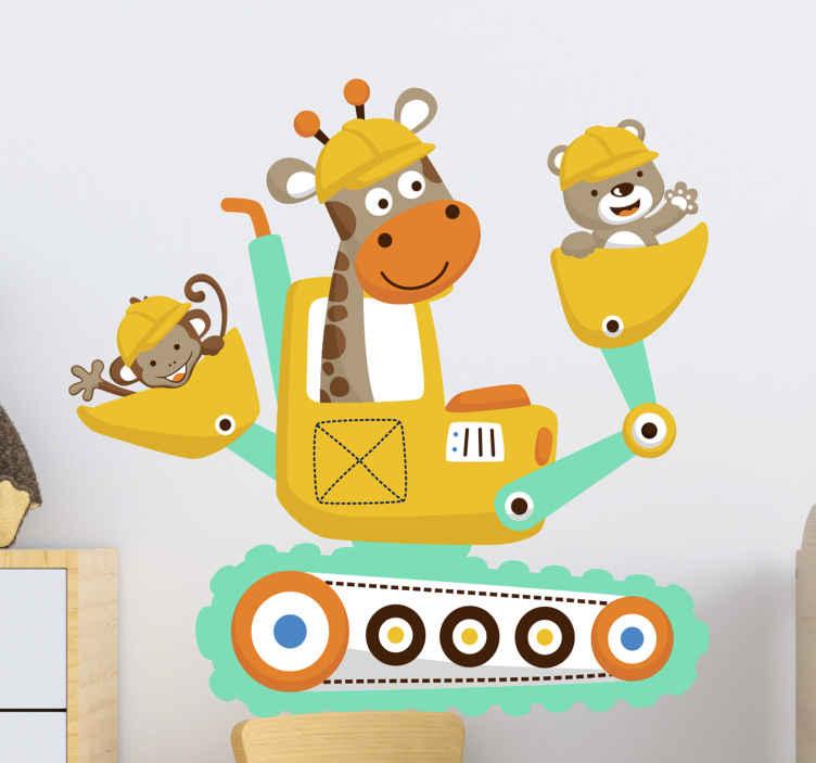 TENSTICKERS. 動物の子供の寝室のウォールステッカーとバガー. あなたの子供が寝室やプレイルームの壁に動物のウォールステッカーが飾られたこのバガーを持っていることがどれほど楽しいか想像できます。