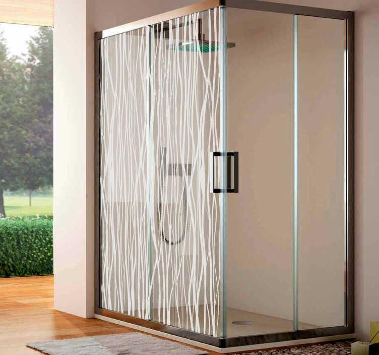 TENSTICKERS. 森の枝シャワーステッカー. あなたの浴室のインテリアに個人的なタッチを追加するための優れたシャワーステッカー。この半透明のシャワーデカールを使用してプライバシーを確保しながら、さまざまなサイズと50種類の色(半透明の色を含む)で明るさを楽しめます。