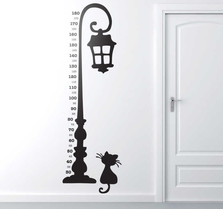 TenStickers. Lamp Post Height Chart Sticker. A very useful height chart decal to measure the members of your family and keep track of your child's growth.