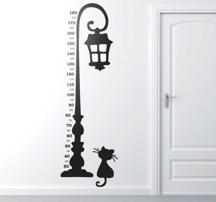 TenStickers. Adesivo bambini metro lampione. Elegante adesivo decorativo di alta qualità ideale per decorare le stanze della casa con questo design bohemien.