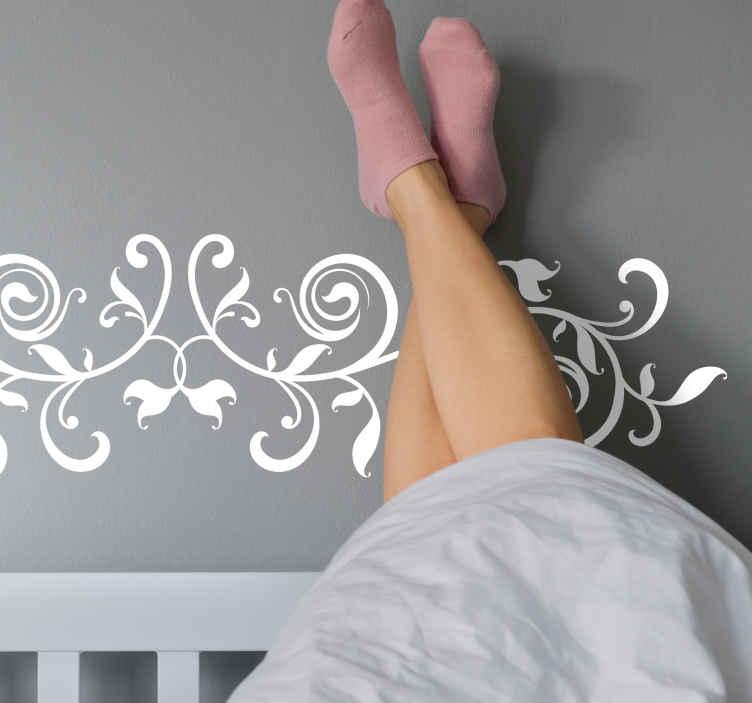 TENSTICKERS. 葉のヘッドボード植物デカール. この観賞用の植物デカールであなたの家やオフィスの壁のスペースを改善してください。それは耐久性があり、接着剤で簡単に塗ることができます。