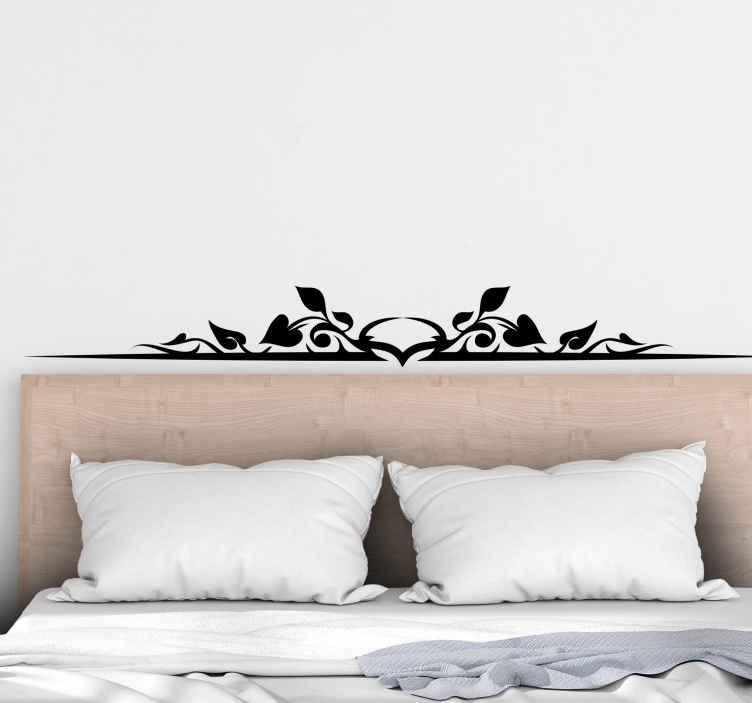 TENSTICKERS. ヒイラギの葉のヘッドボード植物デカール. シンプルな装飾用ヒイラギはあなたの家のための装飾的な寝室のヘッドボードデカールを残します。色はカスタマイズ可能で、適用するのは本当に簡単です。