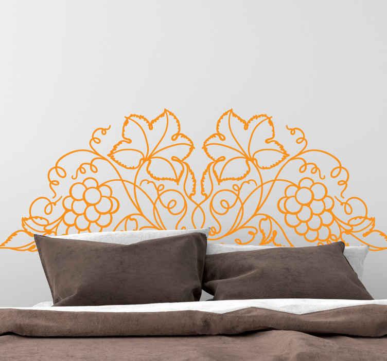 TENSTICKERS. 葉のつるヘッドボード植物デカール. ヘッドボード装飾用の観賞用つる植物ウォールステッカーで、リビングルームに飾ることができます。色とサイズはカスタマイズ可能です。