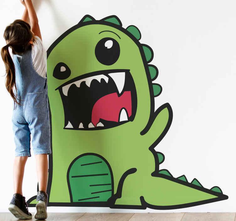 TENSTICKERS. 緑の恐竜の落書き怖いドラゴンのウォールステッカー. この落書きグリーンウォールステッカー恐竜製品で、今日の子供たちにより多くのファンタジーとより良いプレイ体験を提供してください。今日注文してください!