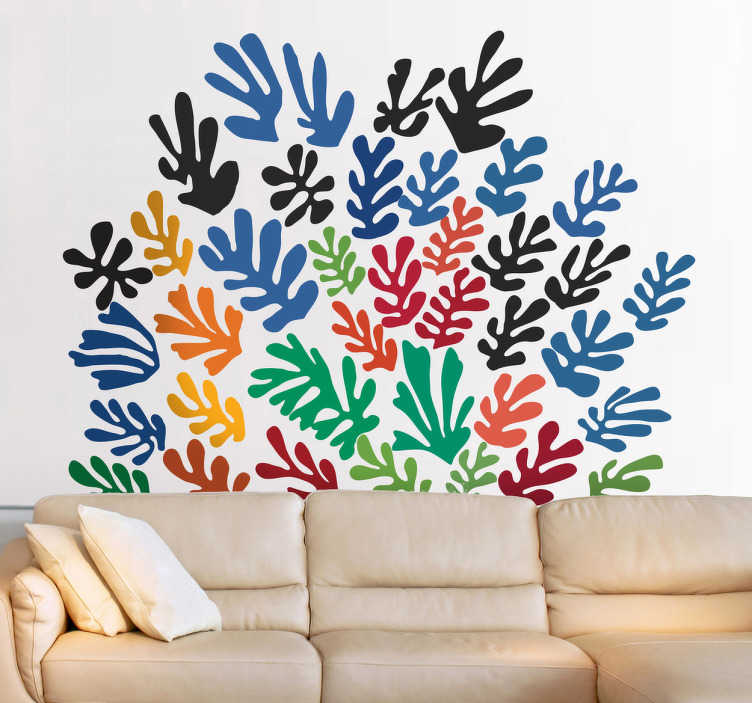 TenStickers. Henri Matisse Wall Sticker. Wall Stickers - Decals - Inspired design. Abstract expressionism style illustration by French artist Henri Matisse. Wall art.