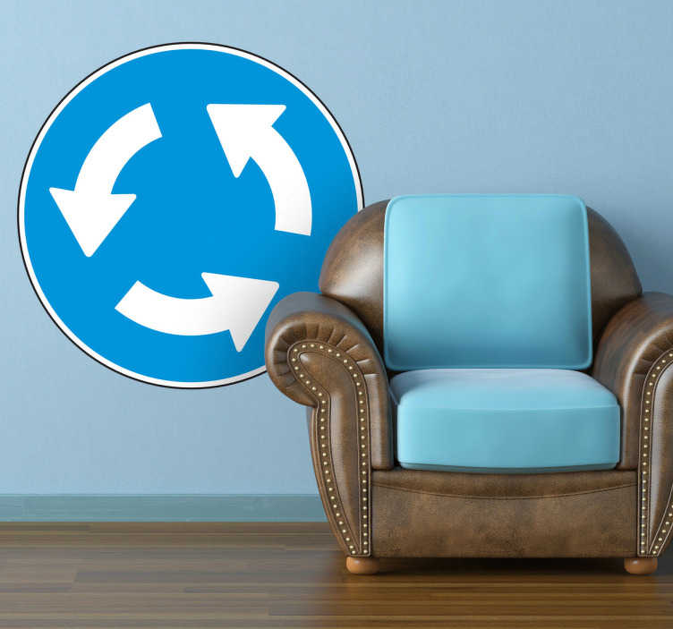 sticker panneau rond point tenstickers. Black Bedroom Furniture Sets. Home Design Ideas