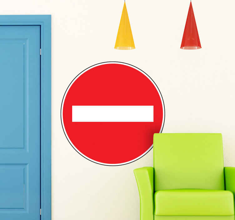 TenStickers. No Entry Wall Sticker. Car Stickers - From the highway code. No Entry road sign.Ideal for decorating your home or a business.