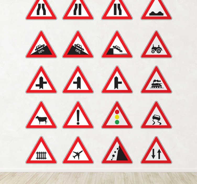 Sticker decorativo segnali pericolo