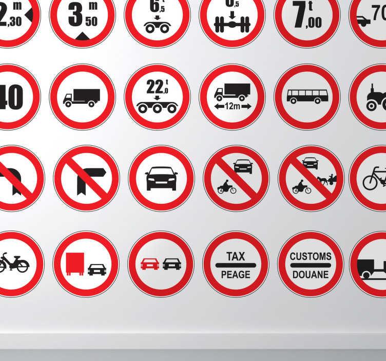 Naklejki znaki zakazu