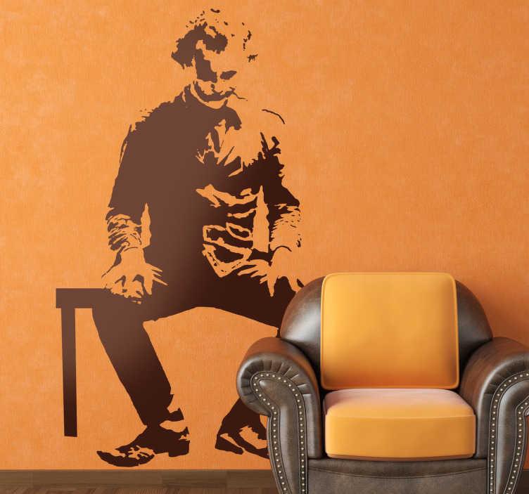 Vinilo decorativo Joker sentado