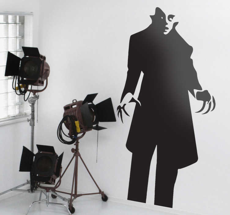 TenStickers. Naklejka dekoracyjna Nosferatu. Naklejka na ścianę przedstawiająca gotyckiego wampira z filmu Nosferatu wampir. Dla wszystkich miłośników klasycznego kina grozy.