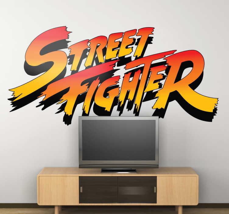 TenStickers. Sticker enfant logo street fighter. Un super sticker pour la chambre de vos enfants représentant le logo du jeu vidéo de combat Street Fighter. Application Facile.
