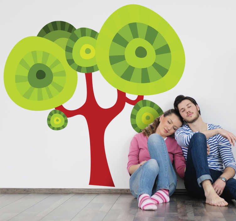Sticker decorativo albero a chiome tonde