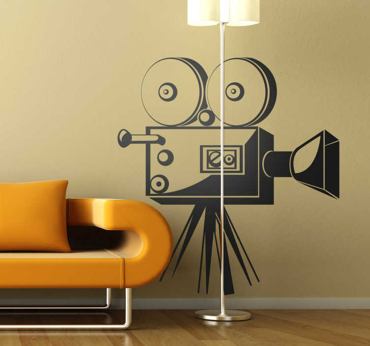 TenStickers. Film Camera Wall Sticker. Film Recorder Wall Sticker Silhouette. From our collection of movie wall stickers , this decal is great for film fanatics.