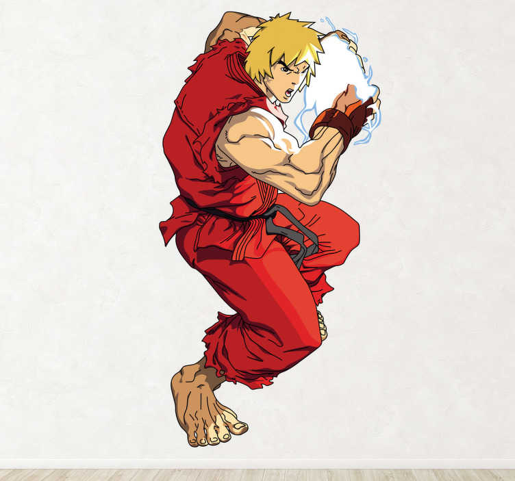 Sticker jeu Ken street fighter