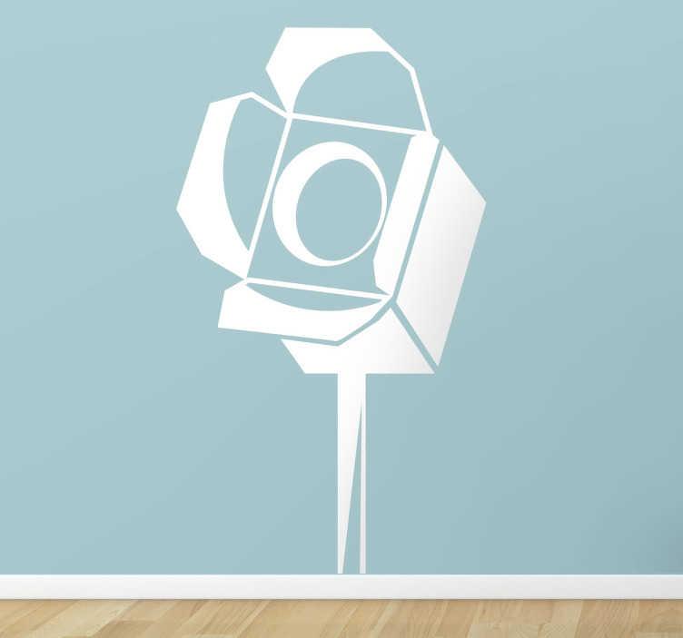 TenStickers. Sticker film verlichting spot. Muursticker van een grote spot, gebruikt voor het verlichten bij het opnemen van films! Een leuke wandsticker voor de filmliefhebbers onder ons.
