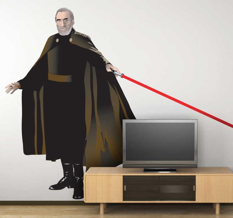 TenVinilo. Vinilo decorativo Conde Dooku. Pegatina de uno de los aliados del Imperio en la saga de películas de George Lucas.