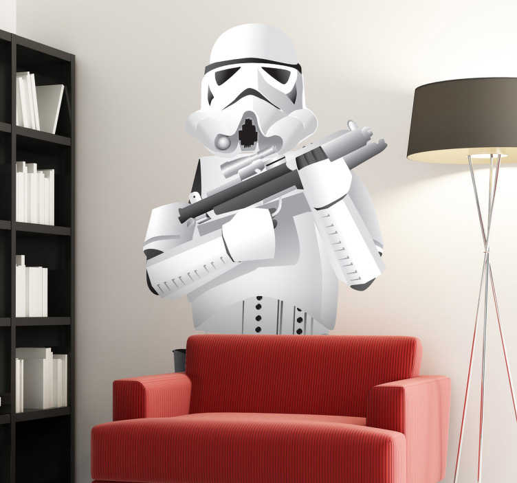 TenStickers. Stormtroopers Wall Sticker. A brilliant Star Wars sticker of a stormtrooper, soldier of the galactic empire with the chief commander, Dark Vader and Darth Sidious!