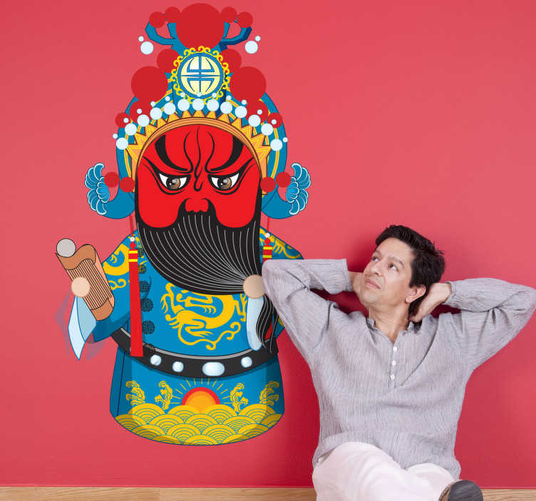 TenStickers. Naklejka dekoracyjna azjatycka figura. Naklejka dekoracyjna, która przedstawia egzotyczną figurę z Azji. Oryginalny obrazek do Twojgo pokoju.