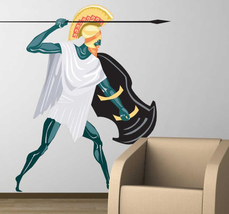 TenStickers. 宙斯神话装饰贴花. 这张墙贴说明了希腊神宙斯。从奥林匹斯山统治的希腊神话中的至高神。