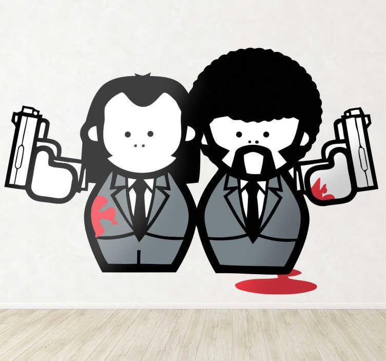 Vinilo decorativo personajes pulp fiction