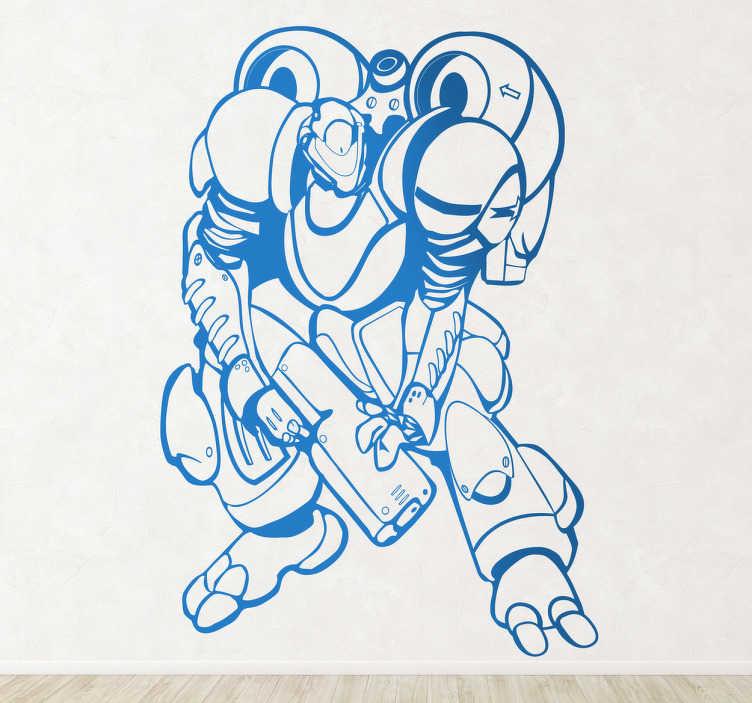Vinilo decorativo super robot armado