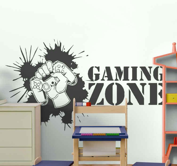 Image of Adesivo murale gioco da tavola Adolescenti della zona di gioco