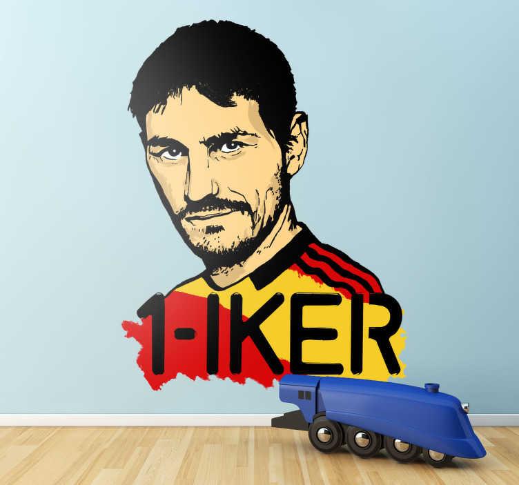 TenVinilo. Vinilo Iker Casillas. Vinilo decorativo de la selección española de futbol. Si eres fan de Iker Casillas, este es tu adhesivo decorativo!