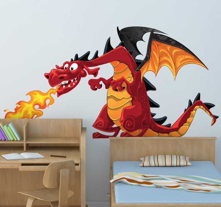 Fire Spitting Dragons Children Stickers