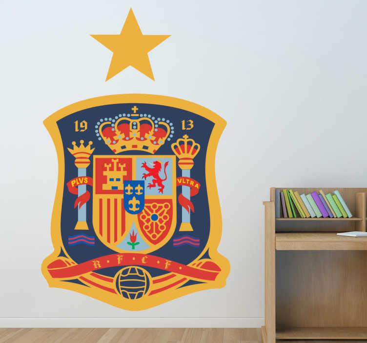 TenStickers. Sticker logo RFEF. Stickers représentant le logo de la sélection espagnole de football, championne du monde et double championne d'Europe.